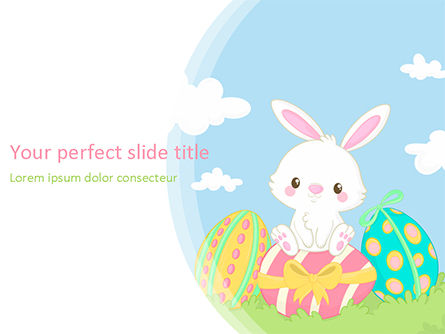 Holiday/Special Occasion: Adorable Easter Bunny PowerPoint Template #15513