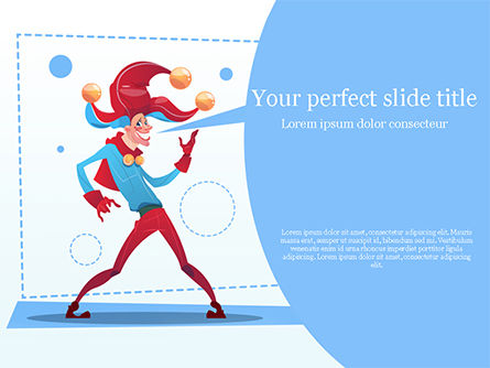 Holiday/Special Occasion: Jester PowerPoint Template #15517