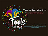 Holiday/Special Occasion: Fools Day Background with Jester's Hat PowerPoint Template #15519