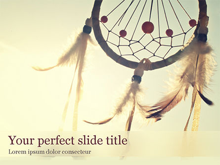 Art & Entertainment: Dream Catcher PowerPoint Template #15521