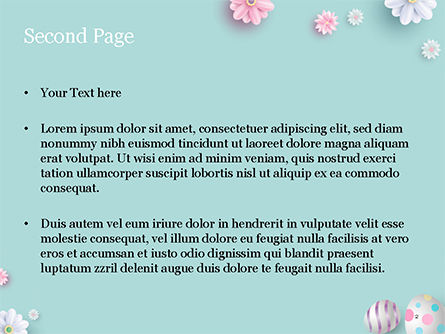 3D Easter Background PowerPoint Template, Slide 2, 15524, Holiday/Special Occasion — PoweredTemplate.com