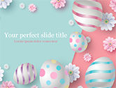 Holiday/Special Occasion: 3D Easter Background PowerPoint Template #15524