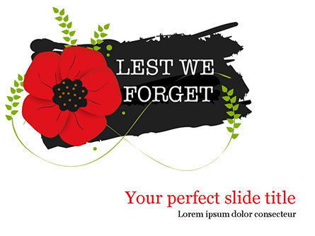 Holiday/Special Occasion: Anzac Day Background PowerPoint Template #15525