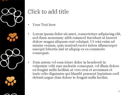 Paw Prints PowerPoint Template, Slide 3, 15526, Abstract/Textures — PoweredTemplate.com