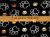 Abstract/Textures: Paw Prints PowerPoint Template #15526