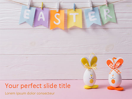 Holiday/Special Occasion: Funny Easter Eggs PowerPoint Template #15529