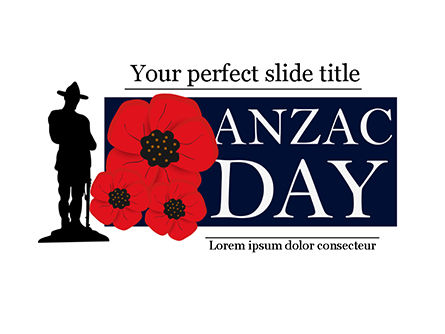 Holiday/Special Occasion: Templat PowerPoint Latar Belakang Untuk Hari Anzac #15530