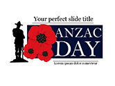 Holiday/Special Occasion: Background for Anzac Day PowerPoint Template #15530