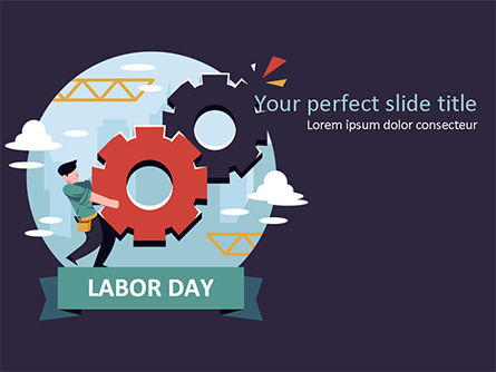 International Workers' Day PowerPoint Template, 15534, Holiday/Special Occasion — PoweredTemplate.com