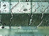 Careers/Industry: Water Drops on Car Glass PowerPoint Template #15535