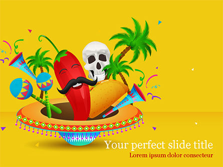 Holiday/Special Occasion: Cinco de Mayo Party PowerPoint Template #15538