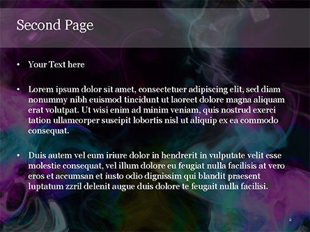 Colored Smoke PowerPoint Template, Slide 2, 15539, Abstract/Textures — PoweredTemplate.com