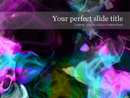 Abstract/Textures: Colored Smoke PowerPoint Template #15539