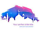 Religious/Spiritual: Ramadan Kareem Greeting PowerPoint Template #15542