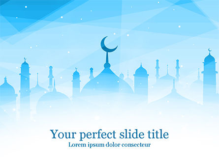 Holiday/Special Occasion: Ramadan Kareem Greeting Background PowerPoint Template #15546