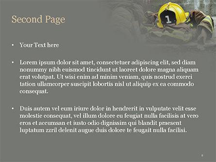 Female Firefighter PowerPoint Template, Slide 2, 15547, Careers/Industry — PoweredTemplate.com