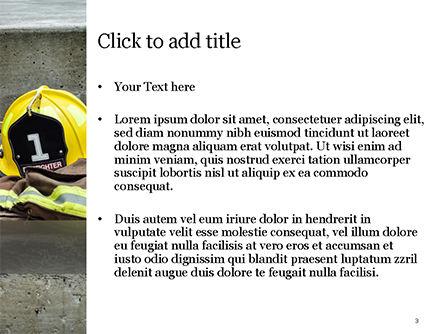 Female Firefighter PowerPoint Template, Slide 3, 15547, Careers/Industry — PoweredTemplate.com
