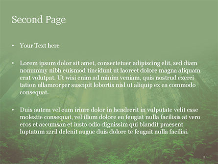 Dark Forest PowerPoint Template, Slide 2, 15549, Nature & Environment — PoweredTemplate.com