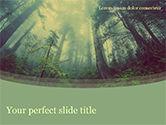 Nature & Environment: Dunkler wald PowerPoint Vorlage #15549