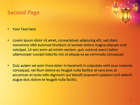 Lanterns for Ramadan PowerPoint Template, Slide 2, 15550, Holiday/Special Occasion — PoweredTemplate.com