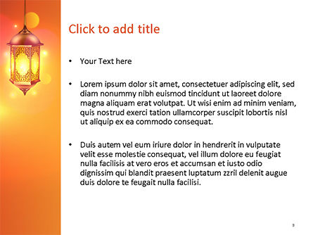 Lanterns for Ramadan PowerPoint Template, Slide 3, 15550, Holiday/Special Occasion — PoweredTemplate.com