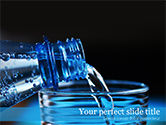 Food & Beverage: Pouring Water From Bottle PowerPoint Template #15551