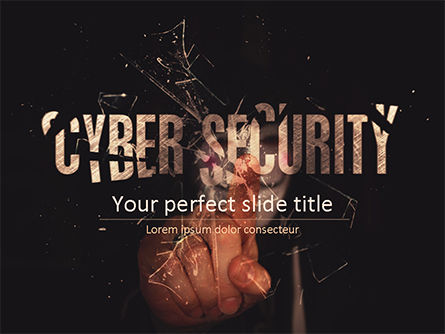 Technology and Science: Cyber Security Hacker PowerPoint Template #15555