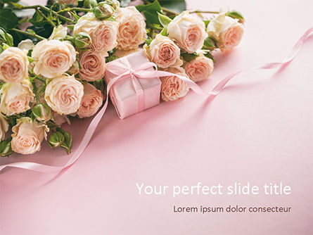 Romantic Gift PowerPoint Template, 15558, Holiday/Special Occasion — PoweredTemplate.com