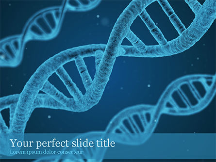 3D: DNA Synthesis PowerPoint Template #15559