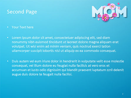 Mom Greeting PowerPoint Template, Slide 2, 15560, Holiday/Special Occasion — PoweredTemplate.com