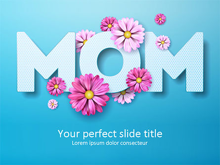 Holiday/Special Occasion: Mom Greeting PowerPoint Template #15560