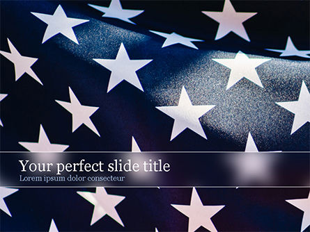 Flags/International: Closeup Photo of USA Flag PowerPoint Template #15566