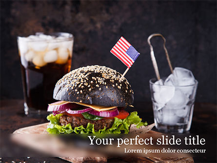 Food & Beverage: Modello PowerPoint - Burger con un panino nero #15568