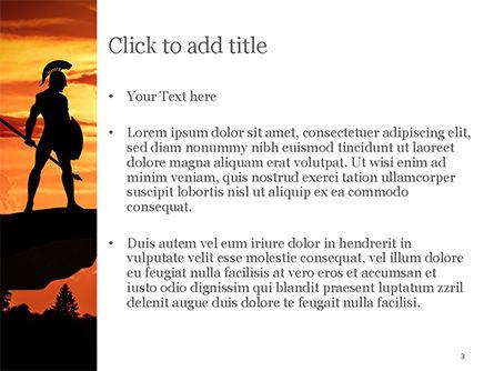 Spartan Warrior Silhouette PowerPoint Template, Slide 3, 15569, Education & Training — PoweredTemplate.com