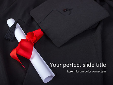 Education & Training: Graduation Day PowerPoint Template #15571