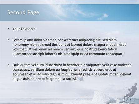 Kitesurfing PowerPoint Template, Slide 2, 15577, People — PoweredTemplate.com