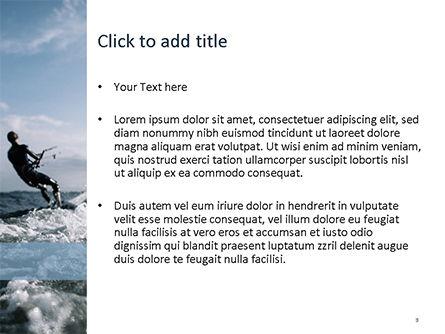 Kitesurfing PowerPoint Template, Slide 3, 15577, People — PoweredTemplate.com