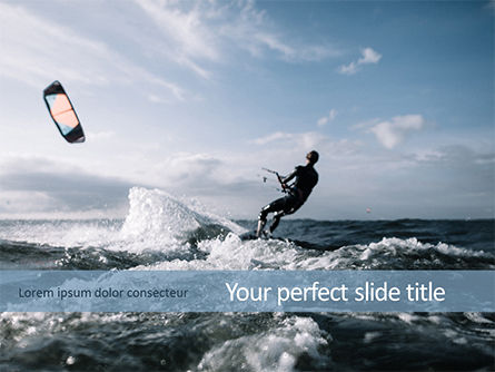 People: Kitesurfing PowerPoint Template #15577