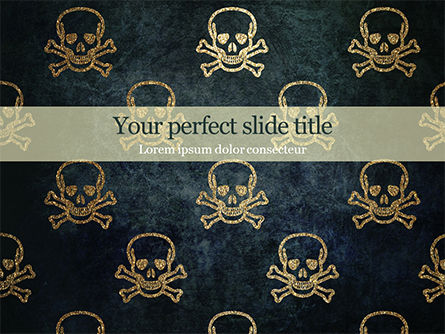 Abstract/Textures: Skull Background PowerPoint Template #15578