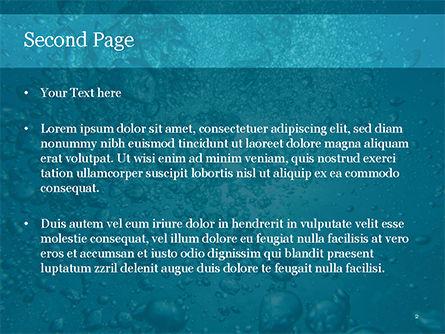 Under Water Bubbles PowerPoint Template, Slide 2, 15581, Nature & Environment — PoweredTemplate.com