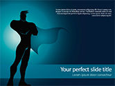 People: Silhouette of Superman PowerPoint Template #15583