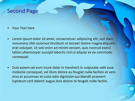 Ocean Paper Cut Style PowerPoint Template, Slide 2, 15585, Nature & Environment — PoweredTemplate.com