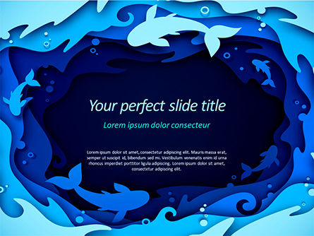 Nature & Environment: Ocean Paper Cut Style PowerPoint Template #15585