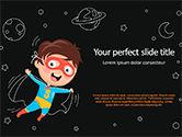 Education & Training: Super Hero Kid PowerPoint Template #15586
