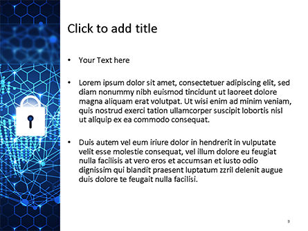 Global Information Security Concept PowerPoint Template, Slide 3, 15589, Technology and Science — PoweredTemplate.com