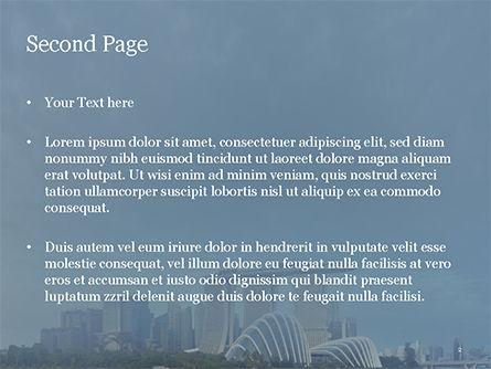 Landscape of Singapore PowerPoint Template, Slide 2, 15590, Construction — PoweredTemplate.com