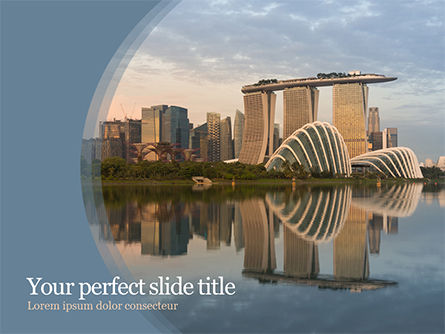 Construction: Landscape of Singapore PowerPoint Template #15590