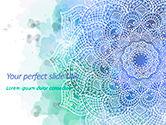 Abstract/Textures: Blauwe Mandala Bloem Presentatiesjabloon PowerPoint Template #15592