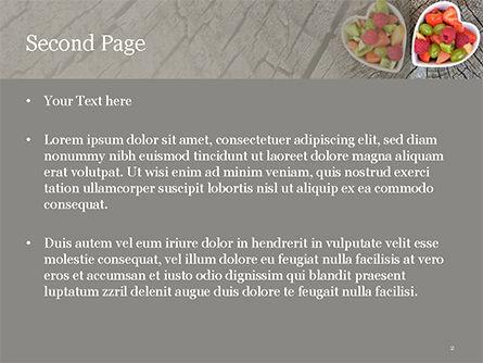 Healthy Fruit Salad PowerPoint Template, Slide 2, 15595, Food & Beverage — PoweredTemplate.com