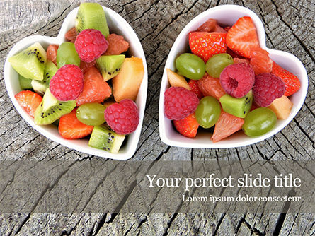 Food & Beverage: Healthy Fruit Salad PowerPoint Template #15595
